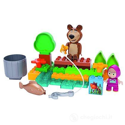 Masha e Orso a pesca Costruzioni 30 pezzi (800057089)