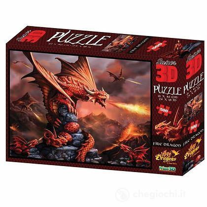 Puzzle 3D Age Of Dragons: Drago di fuoco 500 pezzi