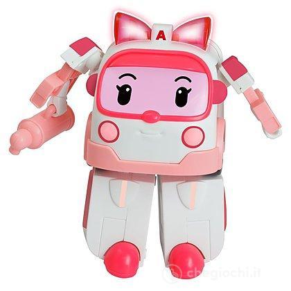 Robocar Poli Amber Personaggio Trasformabile con Luci (83095)