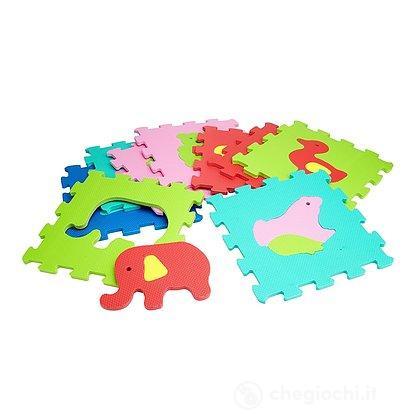 Tappetino Mattonelle Puzzle Animali 9 pezzi