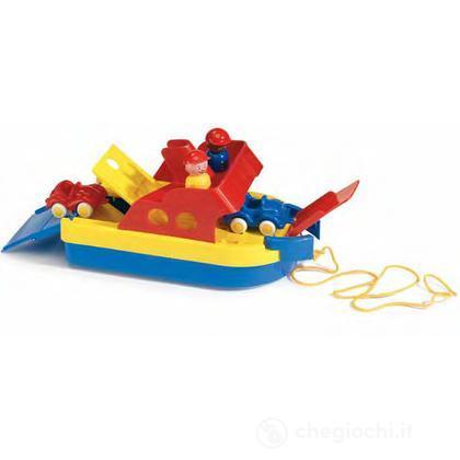 Ferryboat con 2 veicoli e 2 personaggi