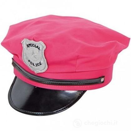 Cappello Polizia Rosa Fluorescente