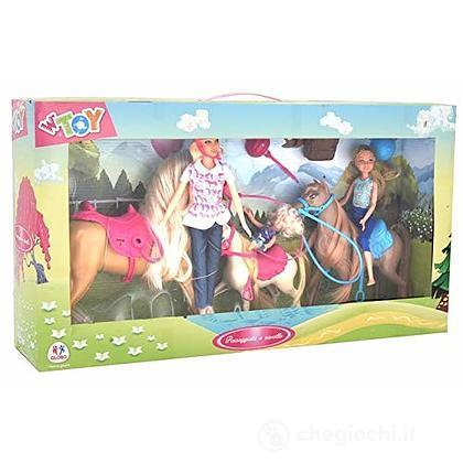 Bambole con 3 Cavalli (39098)