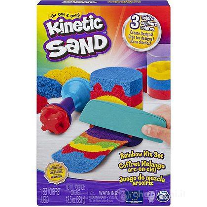 Set Arcobaleno, con 3 Colori di Sabbia e 6 Attrezzi (6053691)