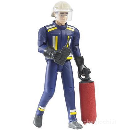 Pompiere con elmetto guanti e accessori  (60100)