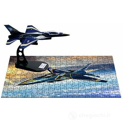 Activity Set Frecce Tricolori Aereo F16 Fighting Falcon + Puzzle 250 pezzi (AS801)