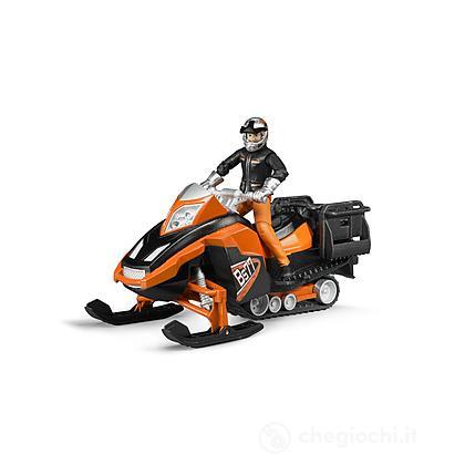 Motoslitta con figura e accessori
