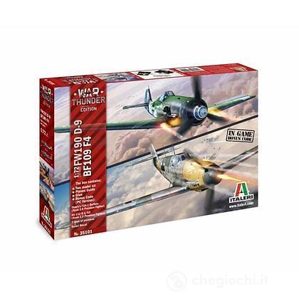 Aereo BF109 F - 4 e Aereo FW 190 D9 - War Thunder 1:72 (IT35101)