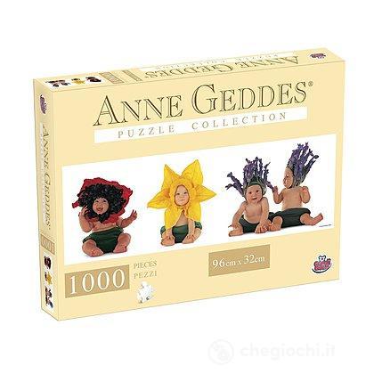 Puzzle Anna Geddes 1000 Pezzi, Flowers Panorama