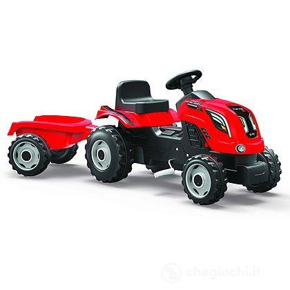 Trattore Farmer XL rosso con rimorchio (7600710108)