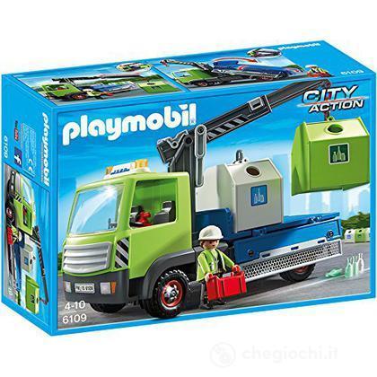 Camion per la raccolta differenziata con gru (6109)