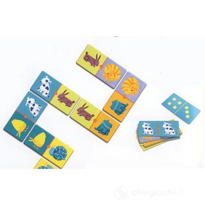 Domino animali colorati