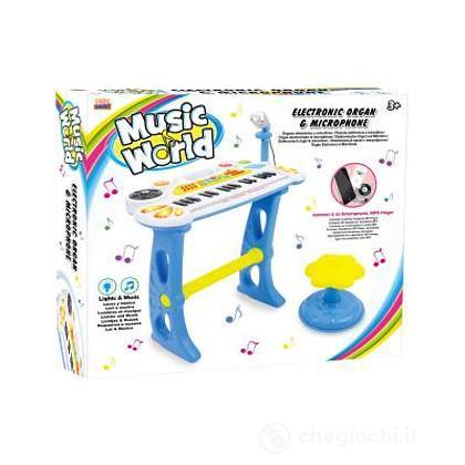 Pianola Con Sgabello e Microfono
