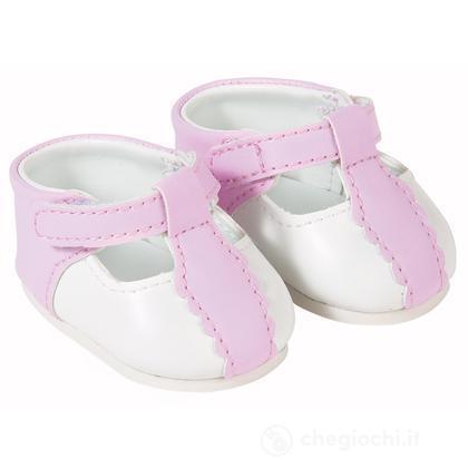 Scarpe bianche e rosa