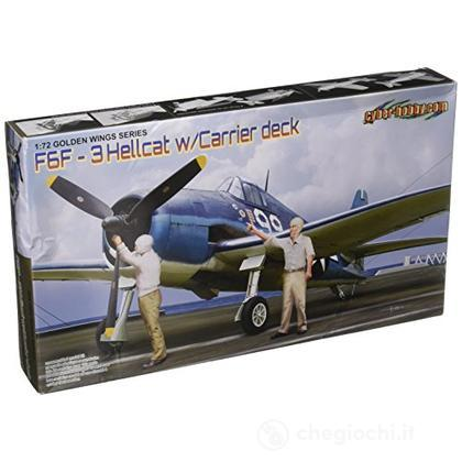 F6f-3 Hellcat W/Flight Deck Nuovo Stampo Include 2 Figure Wingtech