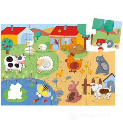 Puzzle tattile- fattoria