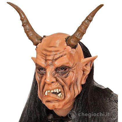 Maschera Diavolo con parrucca