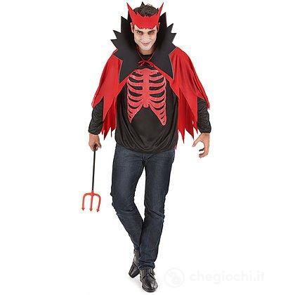 Costume Adulto diavolo rosso Halloween XL