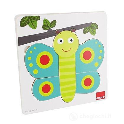 Puzzle 3 livelli Farfalla
