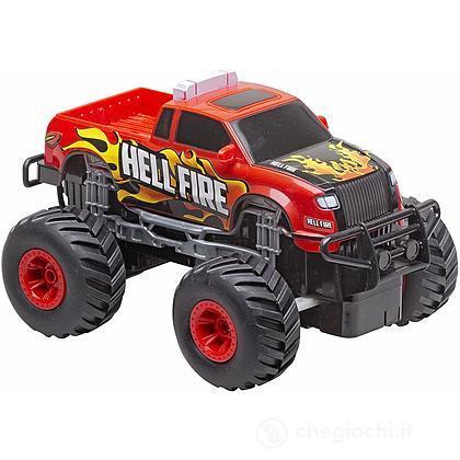 Pick Up Big Wheels Rosso radiocomandato 1:20