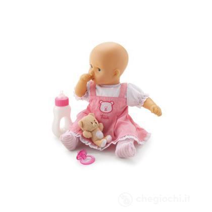 Bambola Vestitino Rosa Orsetto