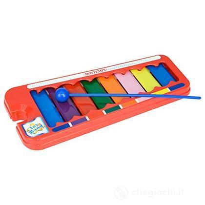 55 0833 - Xilofono A 8 Piastrine/Note Colorate