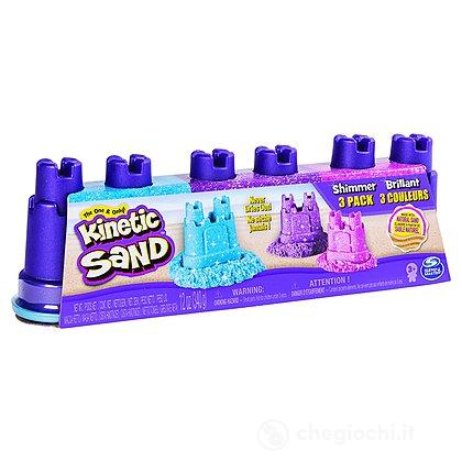 Kinetic Sand Confezione da 3 Sabbie Brillanti