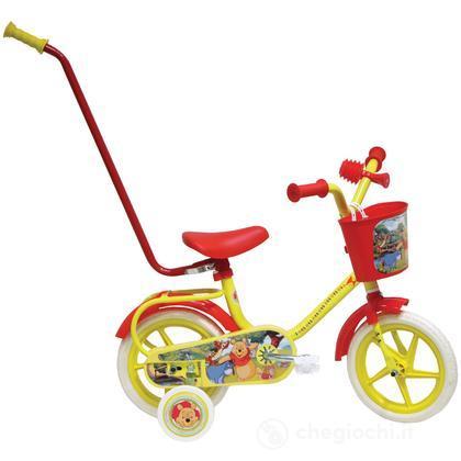"""Bicicletta Winnie The Pooh 10"""" EVA con canna (25125)"""