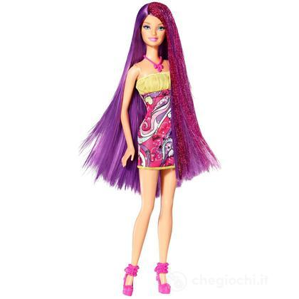 Barbie long hair - Glam viola (W3212)