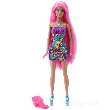 Barbie long hair - Glam rosa (W9348)