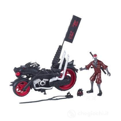 Veicolo Tartarughe Ninja con Foot Soldier