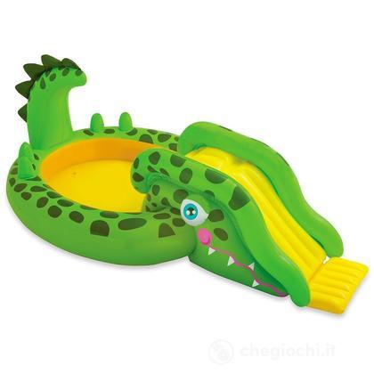 Piscina con scivolo Coccodrillo (57132)