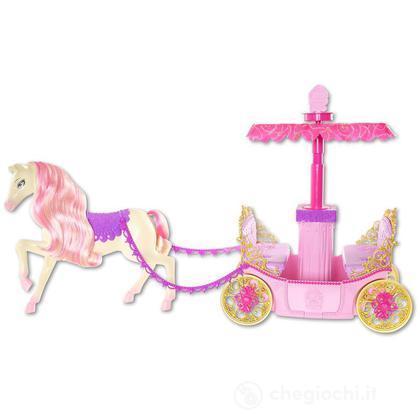 Barbie accademia delle principesse - Carrozza e cavallo (W3895)