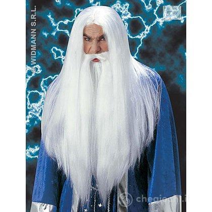 Parrucca barba mago druido