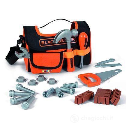 Black + Decker Borsa porta attrezzi, 21 accessori (7600360142)