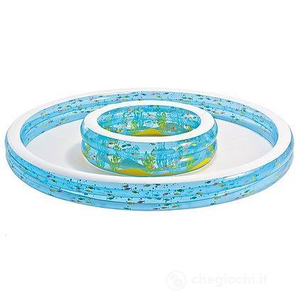 Piscina tonda doppia pesci 279x36 57143 piscine for Pesci finti per piscina