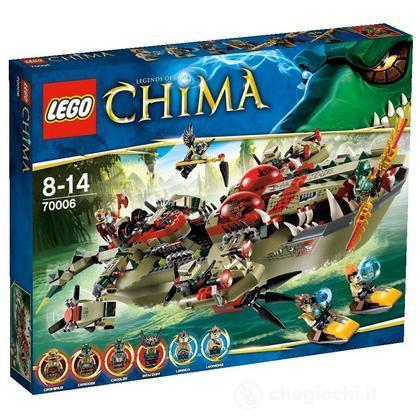 La nave Coccodrillo di Cragger - Lego Legends of Chima (70006)