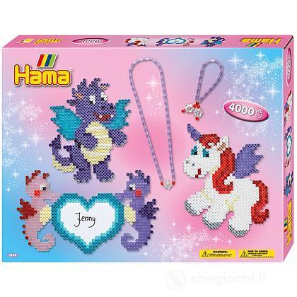 Hama Midi: Gift Box - Drago e unicorno