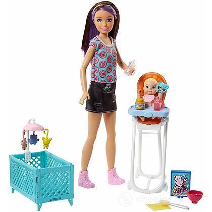 Barbie Skipper Babysitter Pappa e Nanna Playset (FHY98)