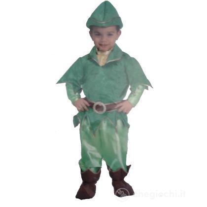 Costume Folletto del bosco Peter Pan 3/4 anni