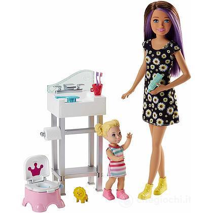 Barbie Skipper Babysitter Lavandino e Vasino (FJB01 )