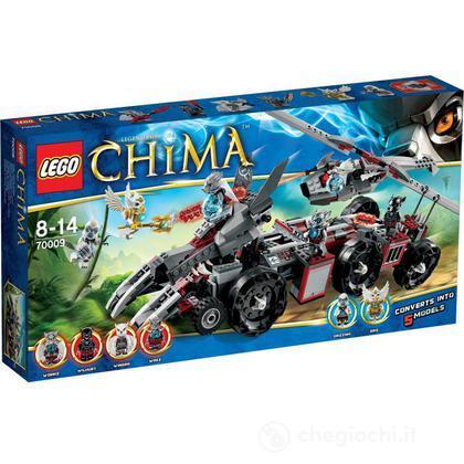 La Macchina da combattimento di Worriz - Lego Legends of Chima (70009)