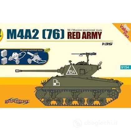 Carro Armato M4A2(76) RED ARMY + MAXIM MACHINE GUN 1/35 (DR9154)
