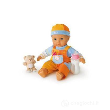 Bambola con salopette orsetto