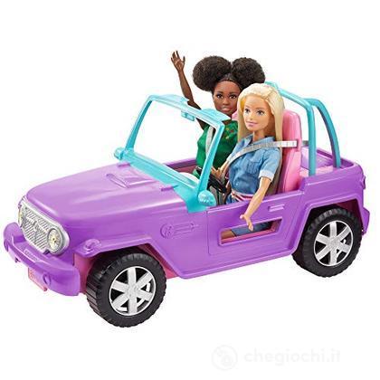 Barbie- Veicolo Jeep da Spiaggia (bambola non inclusa) (GMT46)
