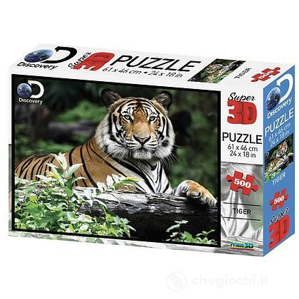 Puzzle 3D Discovery: Tigre 500 pezzi