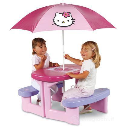 Tavolo da Pic Nic Hello Kitty con ombrellone