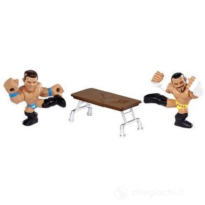 WWE Slam City CM Punk e Miz - Personaggi cartoni animati battaglia (BHK76)