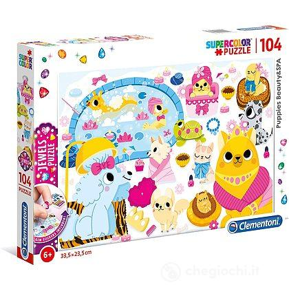 Puzzle 104 Jewels Puppies Beauty&Spa