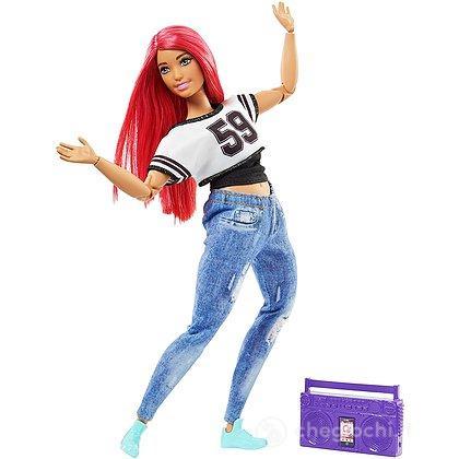 Barbie snodata Ballerina di break dance con radio (FJB19)